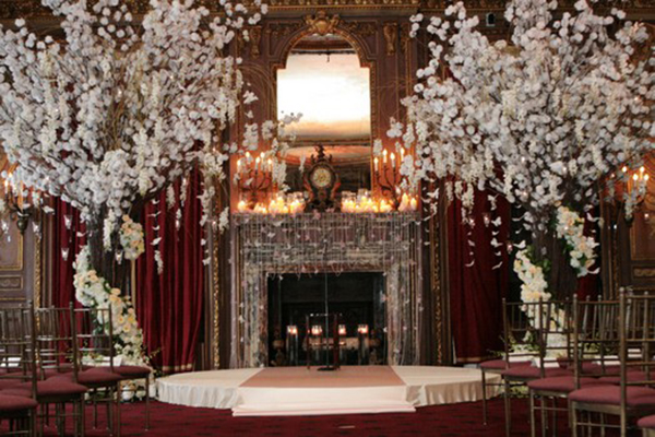 Blossoming trees for weddings b lovely events love this wedding with white blossoming trees junglespirit Images