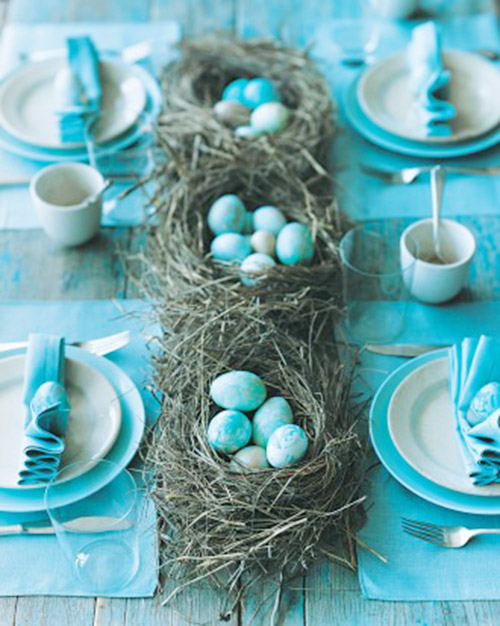 Robins Egg Easter Centerpieces