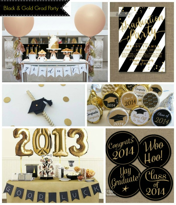 Black And Gold Grad Party