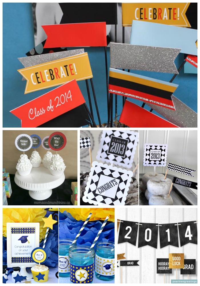 Round Up Of Free Graduation Party Printables! #freeprintables #graduation