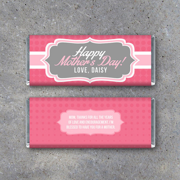 Happy Mother's Day Chocolate wrapper