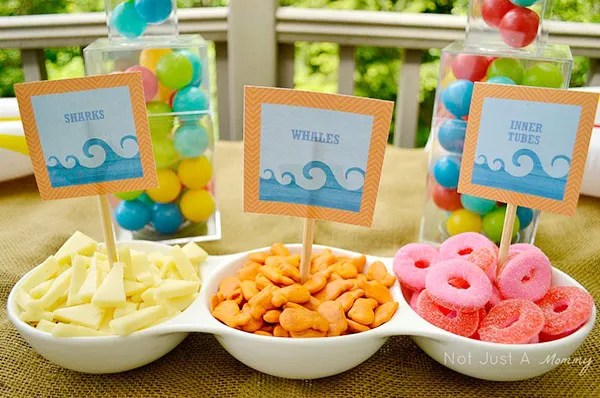 Love these pool party snack ideas