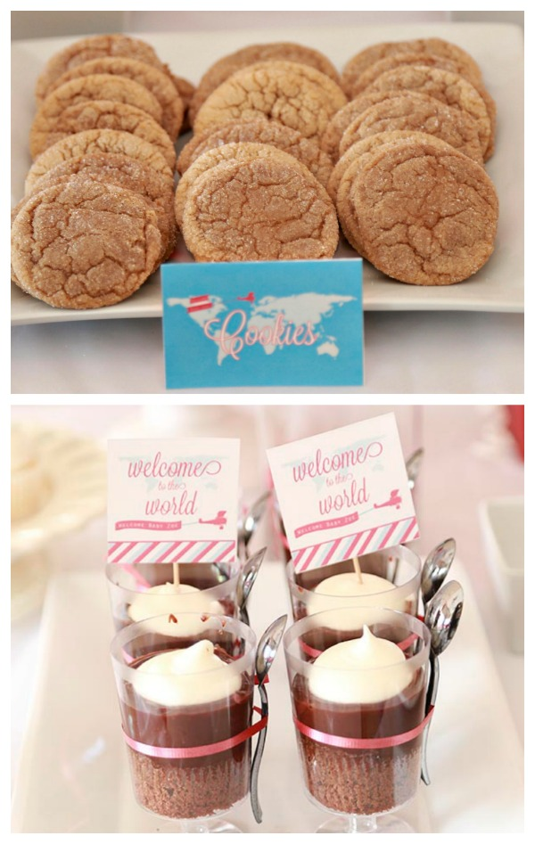 Travel Theme Baby Shower Treats