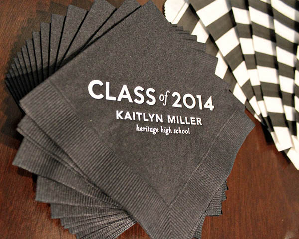 2014 graduation Party napkins- B. Lovely Events