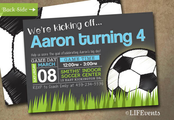 etsy find: soccer ball ideas! - b. lovely events, Party invitations