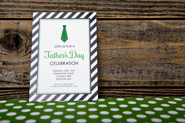Father's Day Party Invitation -B. Lovely Events