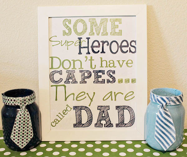 Love these Father's Day Mason Jars