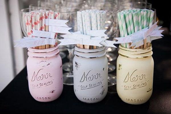 Pastel Wedding straws- so cute!