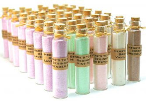 Pastel wedding favors