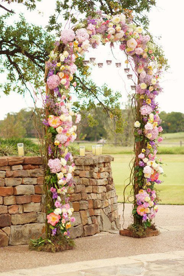Pretty Pastel Wedding Arch