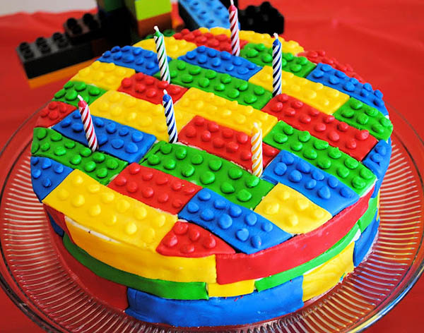 Awesome lego party cake!