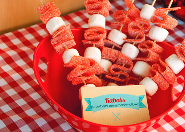 Candy Kabobs for a BBQ!