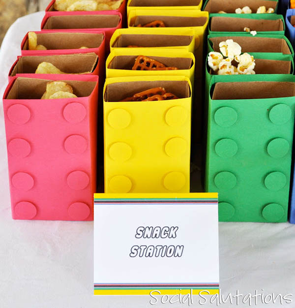 Lovely Lego Party snack ideas!