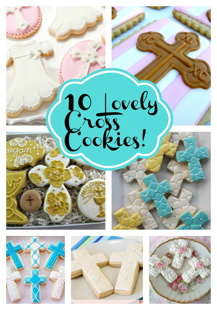 10 Lovely Cross cookies!