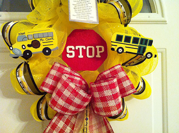 Back To School School Bus Wreath!