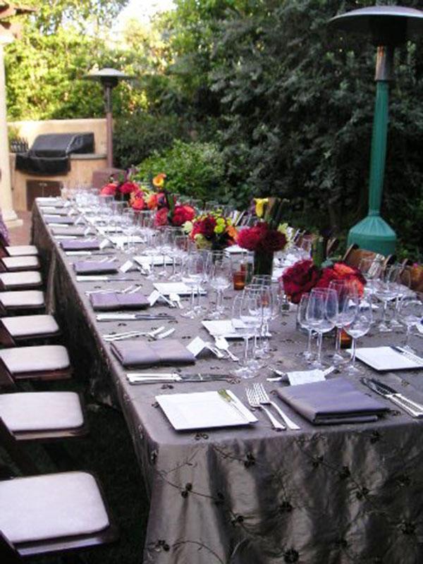 Dinner Party Ideas For 20 Part - 37: Elegant Outdoor Dinner