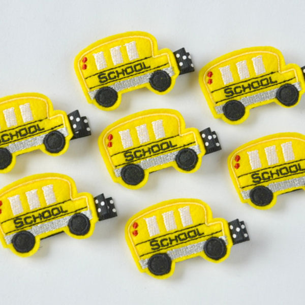 School Bus Hair clips!
