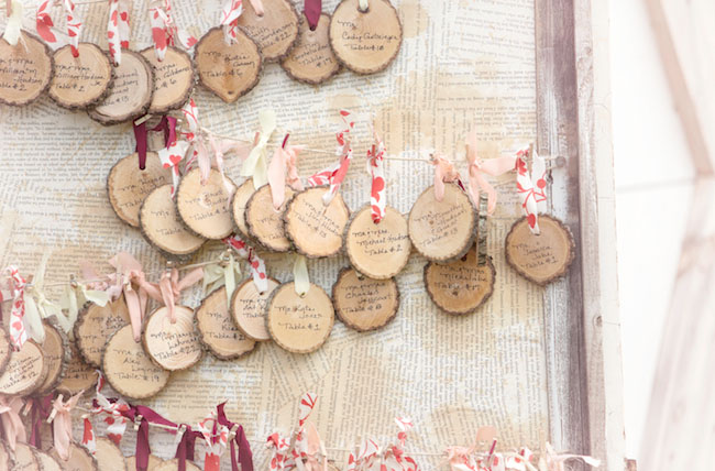 Wood Escort Cards