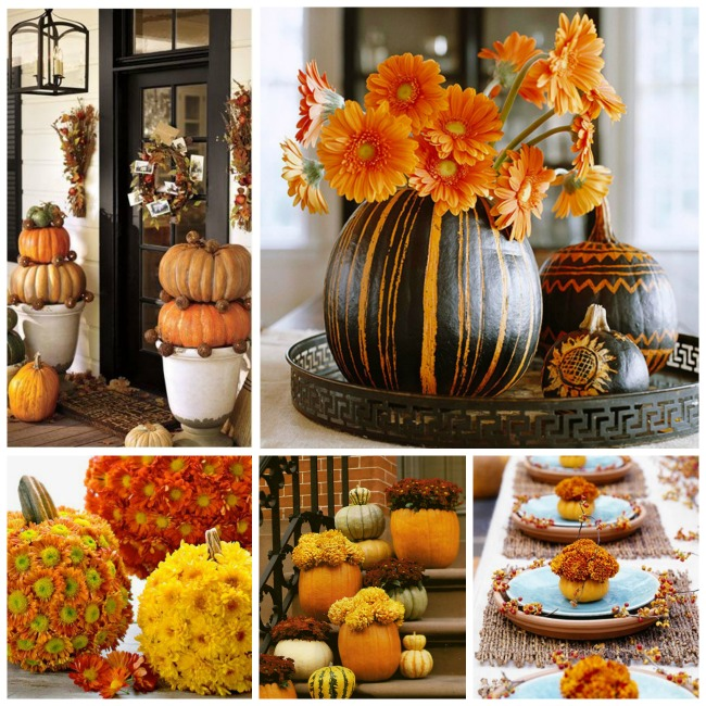 craving these pumpkin decorations