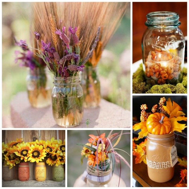 Gorgeous Fall Mason Jars