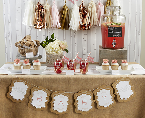 Rustic Baby Shower Dessert Table