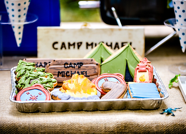 We love these cute camping cookies!