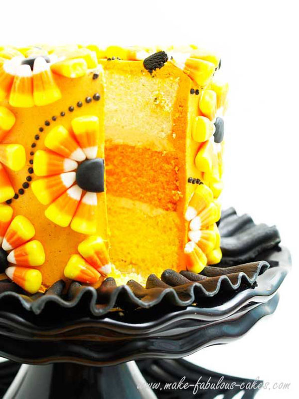 Amazing Halloween Candy Corn Cake