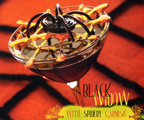 Creative Halloween spider martini