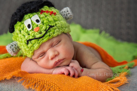 Frankenstein baby hat!