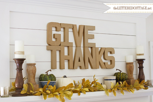 Give Thanks Fall Mantle