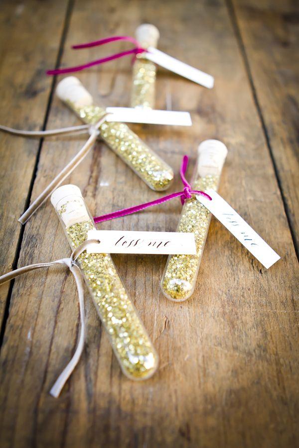 Gold Glitter Wedding Exit Ideas