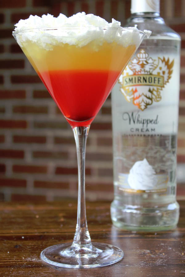 Halloween Candy Corn martini!