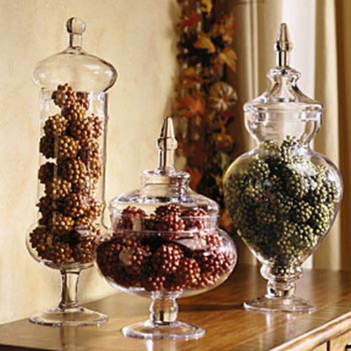 Love these Autumn Filled Jars