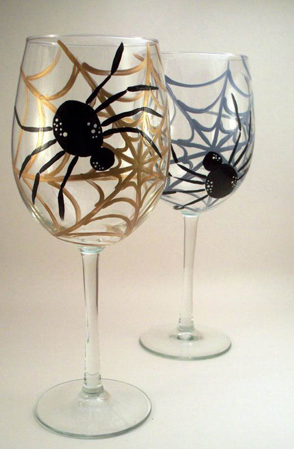 Love these Spider Wine Glasses