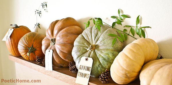 Love this idea for a fall mantle