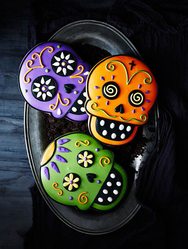 Skull Cookies For halloween!