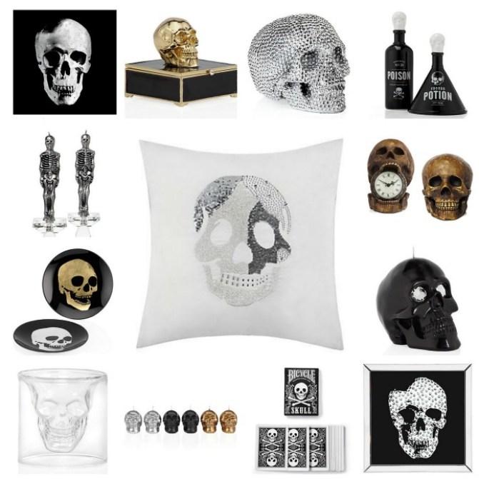 Z Gallerie Halloween Skulls