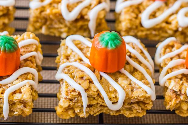 Pumpkin Pie Rice Crispie Treats