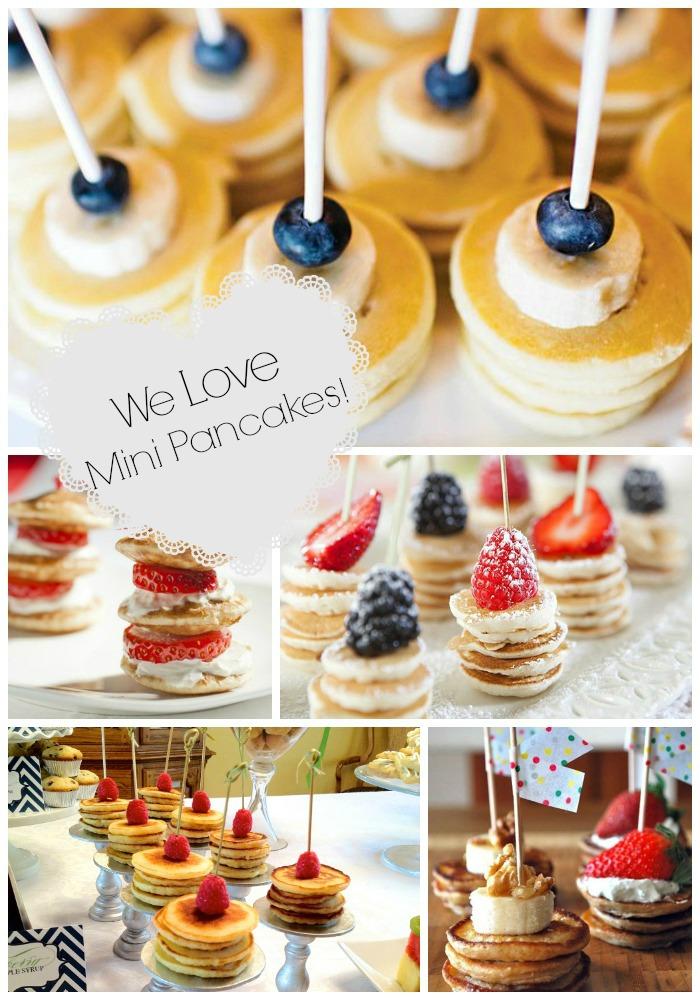 We Love mini pancake stacks