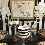 Kate spade bridal shower dessert bar