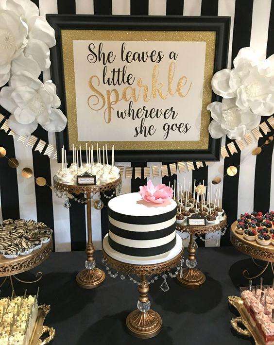 Kate spade bridal shower dessert bar