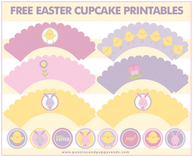 Adorable Easter Free Printable Set!