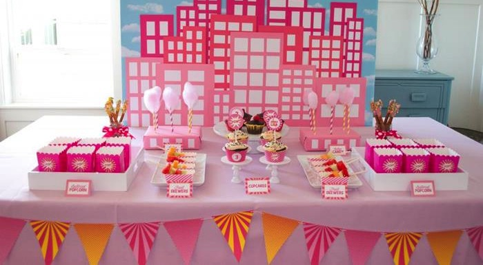 Darling girls superhero party