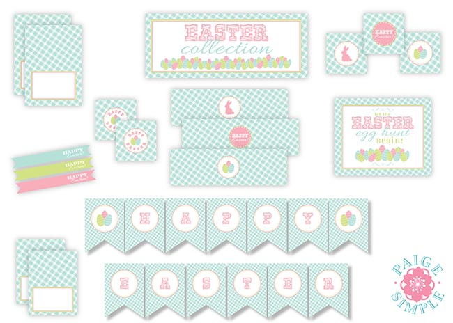 Super Cute Easter Free Printable Set