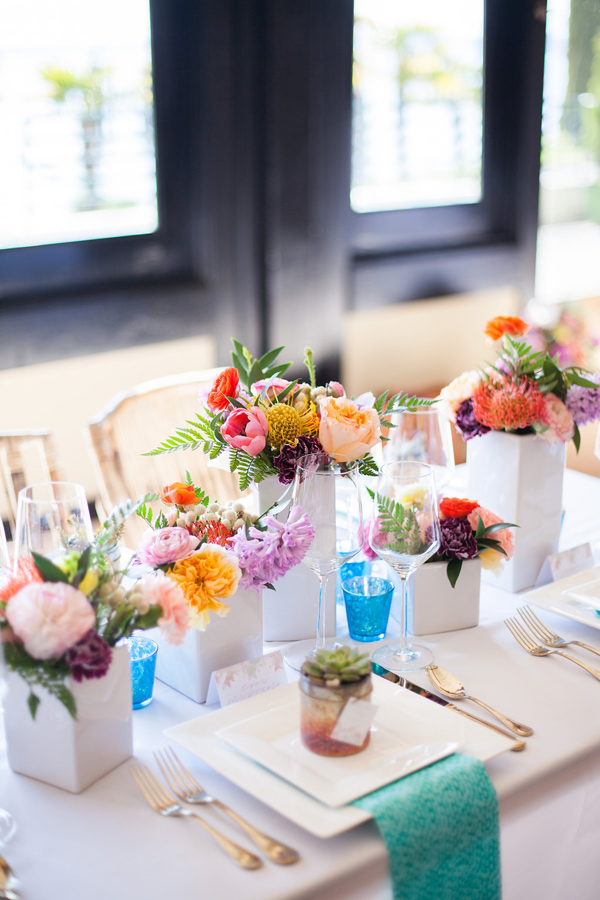 Lovely colorful watercolor tablescape