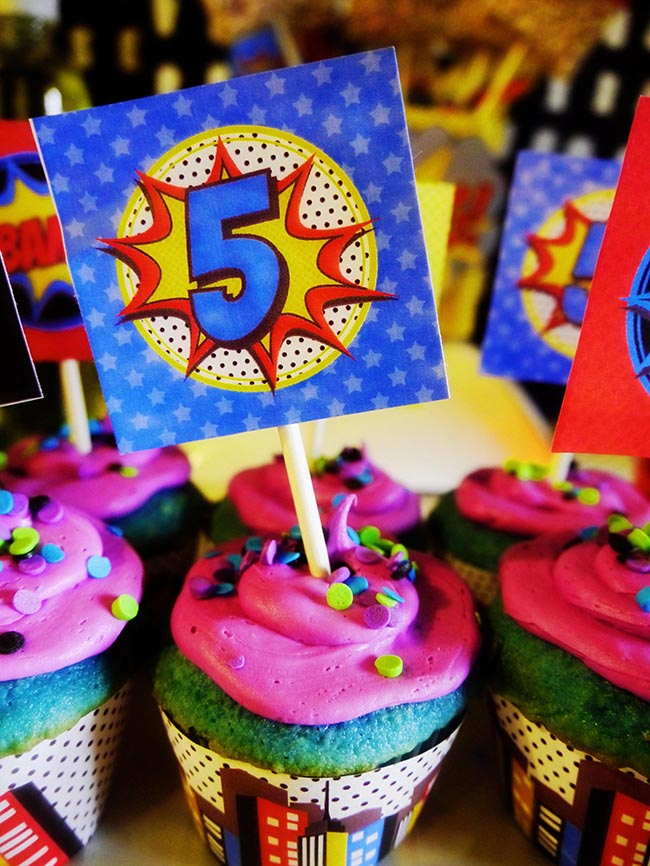 5th Birthday Superhero Party