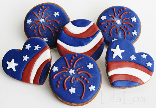 Adorable 4th of July cookies