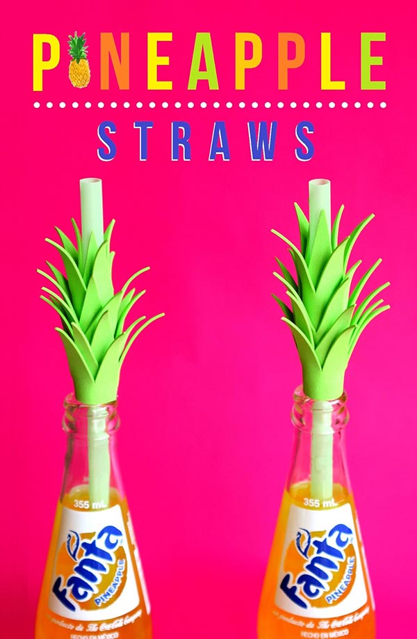 Awesomely Cute Pineapple Straws