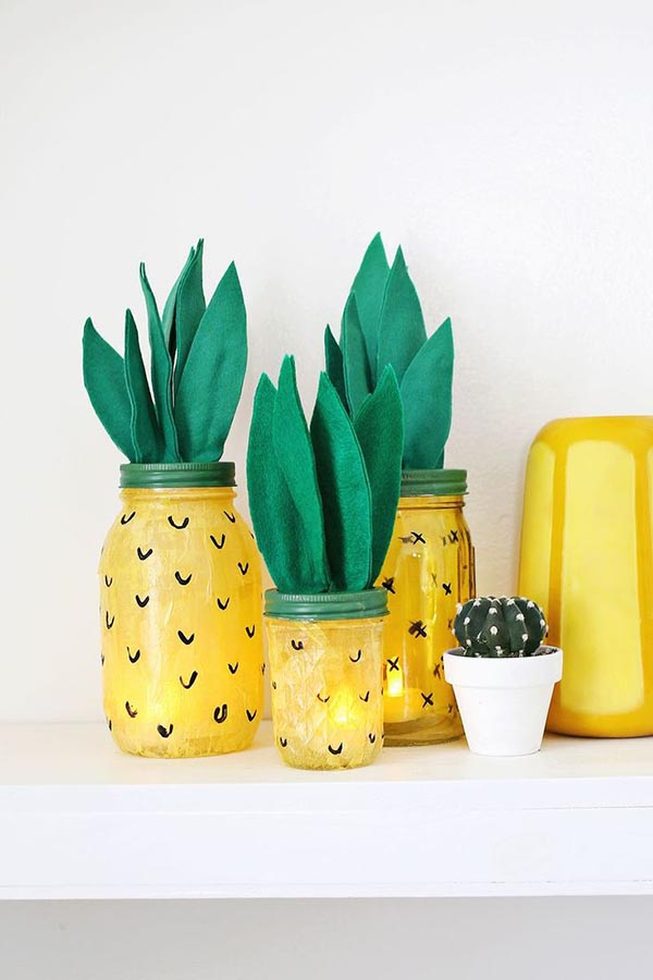Cute Jar Pineapple Party Decorations