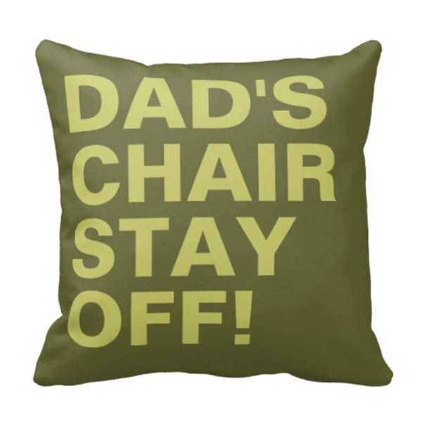 Dad's Chair pillow Gift ideas for Father's Day